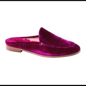 Banana Republic velvet loafer slide